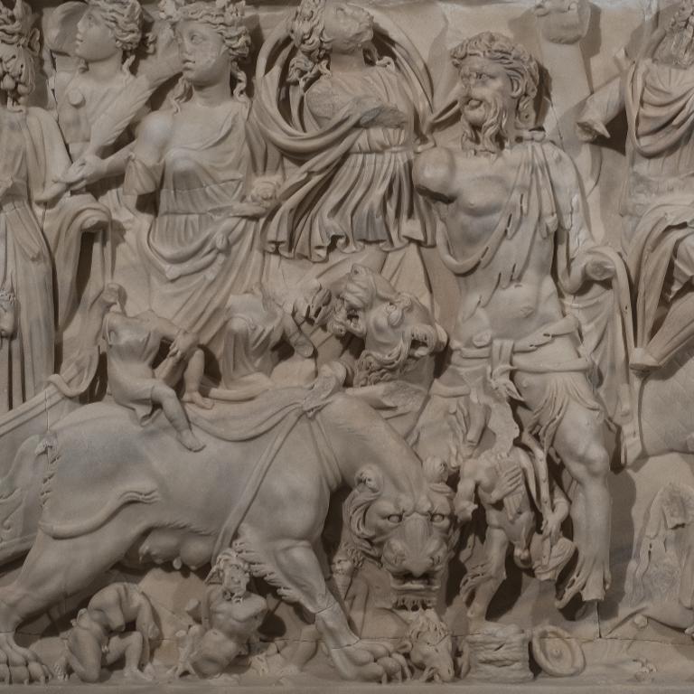 Le sarcophage du triomphe de Bacchus